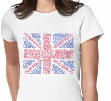 British Flag Collage Womens Fitted T-Shirt