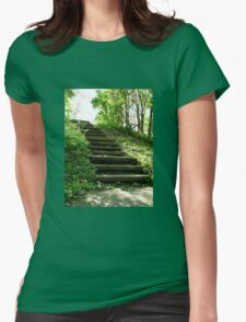 Stairway to Nowhere Womens Fitted T-Shirt