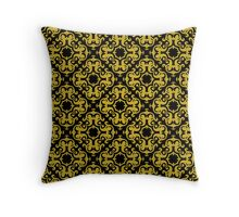 Retro Gold Ornaments Pattern Throw Pillow