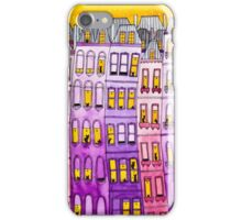Pink & Purple Townhouse Cats iPhone Case/Skin
