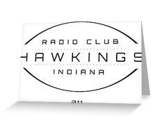 Radio Club Hawkings Greeting Card