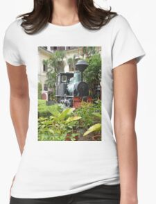 Train in garden Womens Fitted T-Shirt
