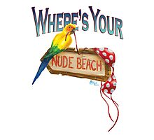 Where's Your Nude Beach Photographic Print
