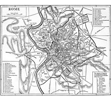 Vintage Map of Rome Italy (1911) Photographic Print