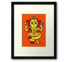 Lord Ganesha in orange Framed Print