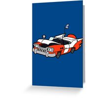 Junk Pile Cats Cadillac Greeting Card