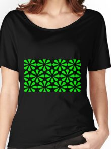Black - Green Slices Women's Relaxed Fit T-Shirt