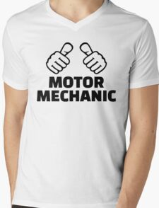 Motor mechanic Mens V-Neck T-Shirt