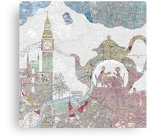 4 o'clock tea London Map Canvas Print