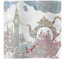 4 o'clock tea London Map Poster