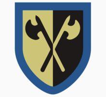 Crusaders - Crossed Axes Kids Tee