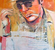 Hunter S Thompson by grittyarts