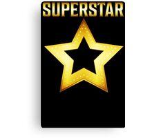 Superstar T Shirt Canvas Print