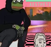 PEPE AESTHETIC VAPORWAVE Sticker