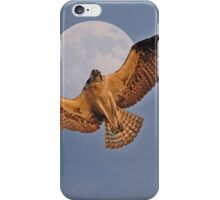 Flying Osprey and Super Moon iPhone Case/Skin