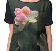 Backlit Lotus Chiffon Top
