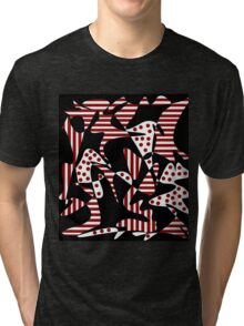 Red, black and white abstraction Tri-blend T-Shirt