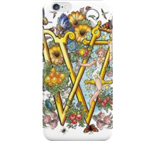 The Illustrated Alphabet Capital W (Fuller Bodied) from THE ILLUSTRATED MAN iPhone Case/Skin