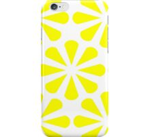 White - Yellow Slices iPhone Case/Skin