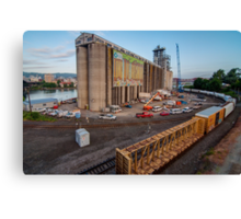Passing the Portland Grain Terminal Canvas Print