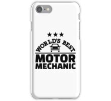 World's best motor mechanic iPhone Case/Skin