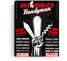 Ash & Merle's Handyman Appliances Canvas Print