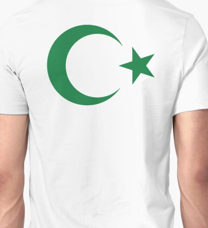 Star and crescent, Pakistan, Pakistani, Islam, Islamic, Ottoman Empire Unisex T-Shirt