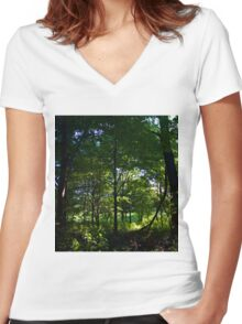 Iowa Forest Women's Fitted V-Neck T-Shirt