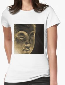 East - Dan ART Spiritual Buddha Sculpture Womens Fitted T-Shirt