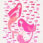 Koi Mermaids – Pink Palette by Cat Coquillette