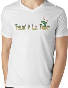 Feelin A Lil Froggy Mens V-Neck T-Shirt