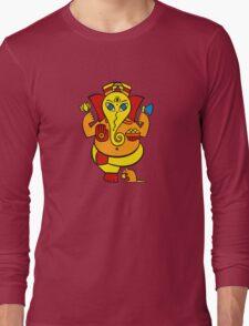 Lord Ganesha in orange Long Sleeve T-Shirt