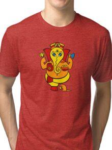 Lord Ganesha in orange Tri-blend T-Shirt