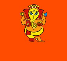 Lord Ganesha in orange Womens Fitted T-Shirt