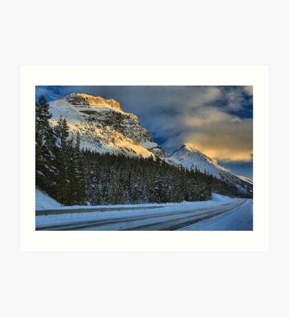 Icefields Parkway Sunset Art Print