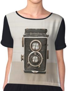 Vintage Rolleiflex Twin Lens camera Chiffon Top