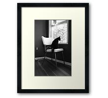 Bored with Cat Food Framed Print