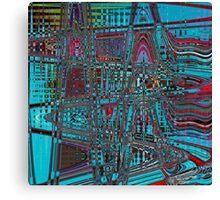 Electronic Sound Canvas Print