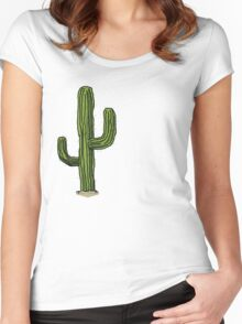 Lonely Cactus Women's Fitted Scoop T-Shirt