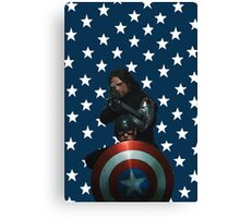 Bucky and Cap Canvas Print