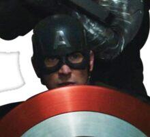 Bucky and Cap Sticker