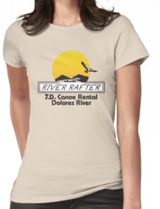 J.D. Canoe Rental Dolores River Womens Fitted T-Shirt