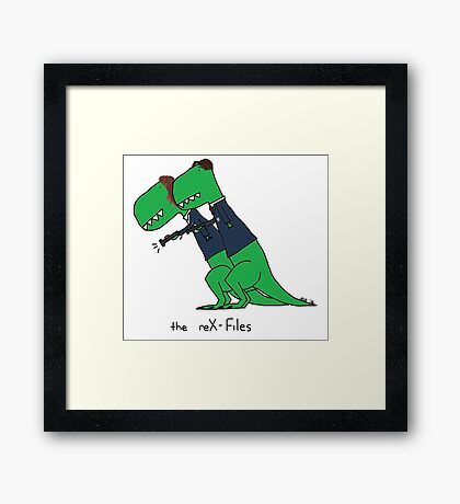 the reX-Files Framed Print