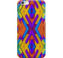 Colorful, Geometric Pattern with Slight 3-D Effect iPhone Case/Skin