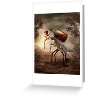 Old mosquito Greeting Card
