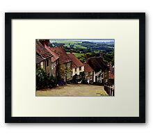 Gold Hill - Dorset Framed Print