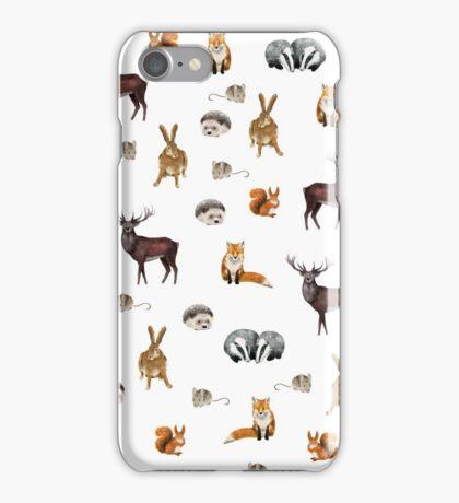 Woodland animal pattern  iPhone Case/Skin