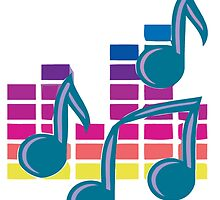 Music Notes 80s by sohippy