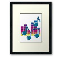Music Notes 80s Framed Print