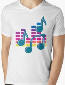 Music Notes 80s Mens V-Neck T-Shirt